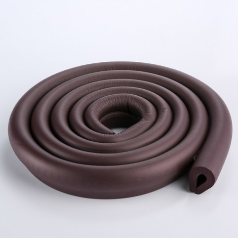 200CM U-Shaped Glass Table Corner Protector Edge Cushion Baby Safety Guard Brown