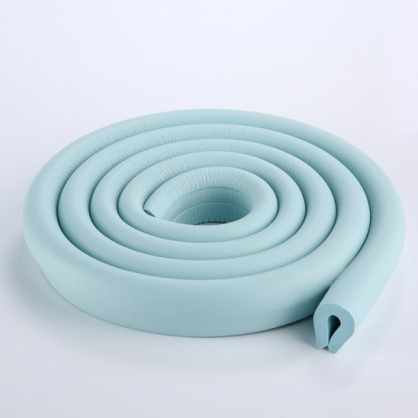 200CM U-Shaped Glass Table Corner Protector Edge Cushion Baby Safety Guard Light Blue