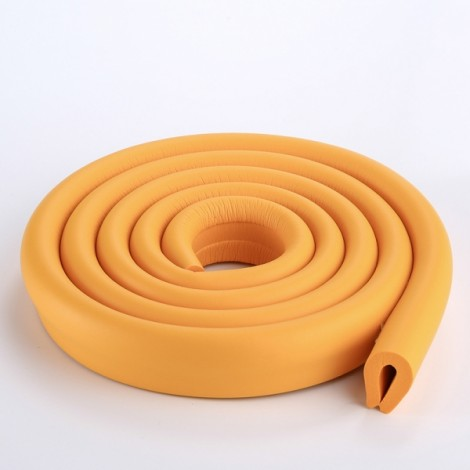 200CM U-Shaped Glass Table Corner Protector Edge Cushion Baby Safety Guard Orange