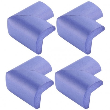 4pcs Soft Thicken Safety Baby Table Corner Cushion Protectors Purple