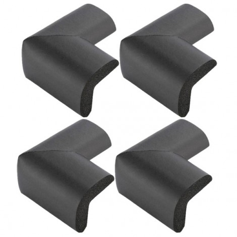 4pcs Soft Thicken Safety Baby Table Corner Cushion Protectors Black