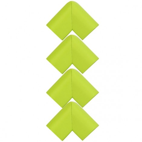 4pcs U Shape Thicken Safety Baby Table Corner Cushion Protectors Green