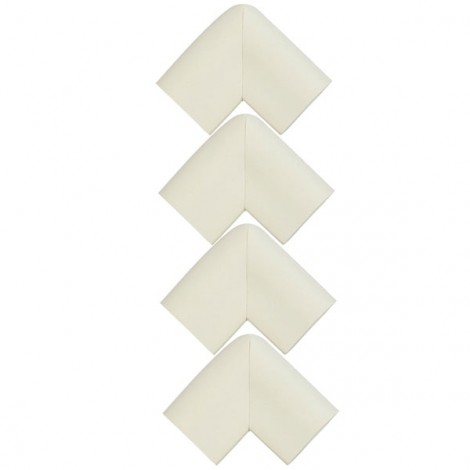 4pcs U Shape Thicken Safety Baby Table Corner Cushion Protectors White