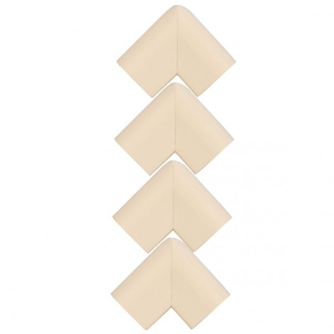 4pcs U Shape Thicken Safety Baby Table Corner Cushion Protectors Beige