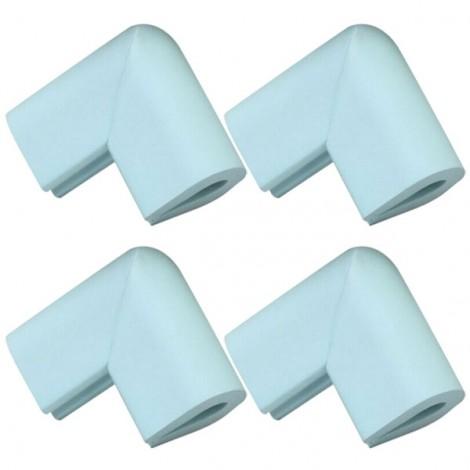 4pcs U Shape Thicken Safety Baby Table Corner Cushion Protectors Light Blue