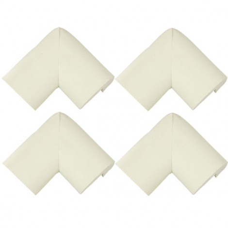4pcs Baby Safety Table Desk Edge Corner Cushion Guard Softener Protectors White