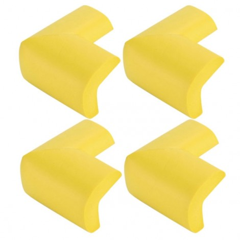 4pcs Soft Thicken Safety Baby Table Corner Cushion Protectors Yellow