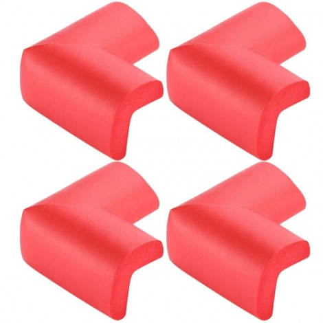 4pcs Soft Thicken Safety Baby Table Corner Cushion Protectors Red