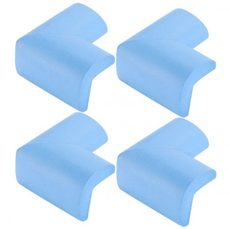 4pcs Soft Thicken Safety Baby Table Corner Cushion Protectors Sky Blue