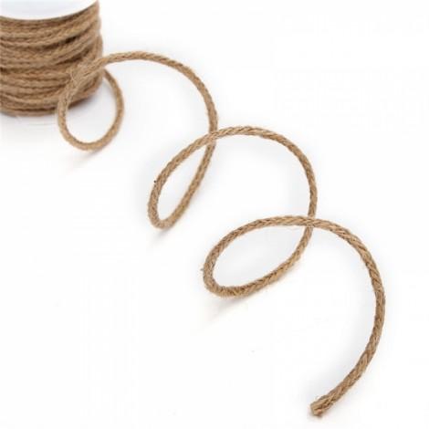 5m Natural Hemp Rope Burlap Ribbon DIY Craft Vintage Wedding Party Home Decor Dark Brown Square Braid