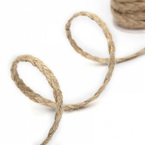 5m Natural Hemp Rope Burlap Ribbon DIY Craft Vintage Wedding Party Home Decor Dark Brown 2*3 Strands