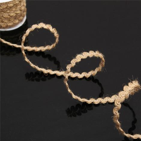 5m Natural Hemp Rope Burlap Ribbon DIY Craft Vintage Wedding Party Home Decor Dark Brown Centipede Braid