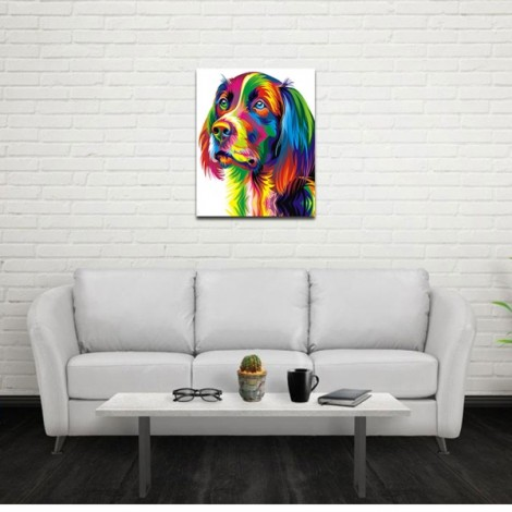 Neutral Colorful Animals of Dog Oil Painting Spray Painting Size M