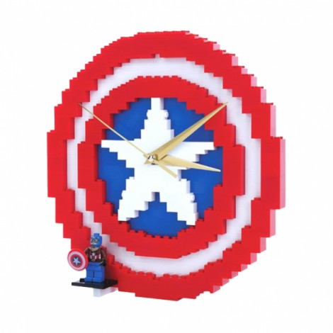 Magic Creative Clock Series Blocks DIY Building Toys American Capitain