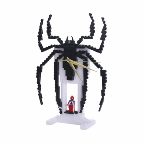 Magic Creative Clock Series Blocks DIY Building Toys Spiderman