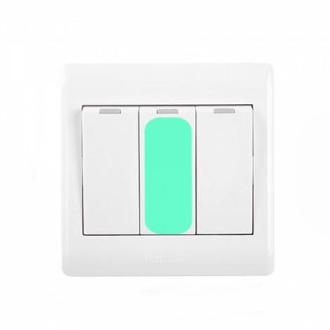 10Pcs Home Vinyl Waterproof Creative Recycle Light Dark Night Luminous Button Switches Stickers
