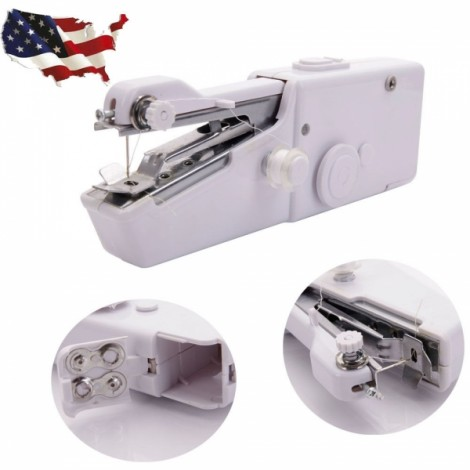 Singer Portable Stitch Sew Hand Held Quick Sewing Machine Handy Cordless Repair