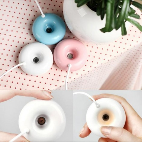 USB Timing Mini Donuts Style Humidifier Air Mist Atomizer Purifier Blue