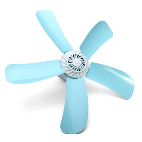 220V 7W Energy-saving Electric Anti-mosquito Mini 5-Blade Ceiling Fan Lake Green