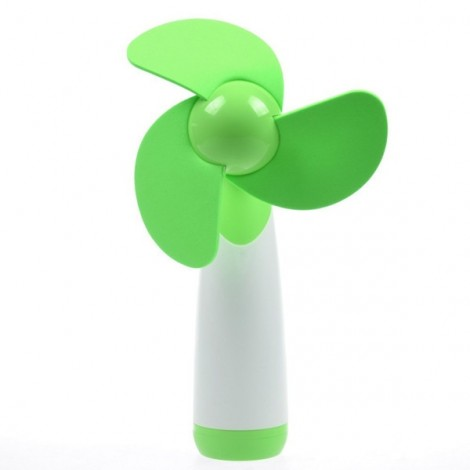 Portable Handheld Mini-sized Super Mute Battery-operated Fan Green