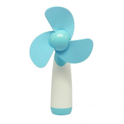 Portable Handheld Mini-sized Super Mute Battery-operated Fan Blue