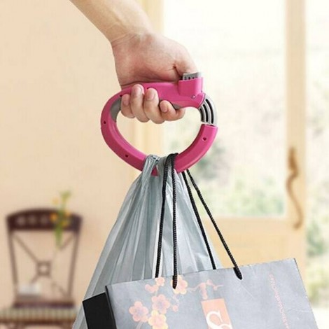 Creative Labor-Saving Self-Locking D-Shaped Carrying Handle for Grocery Bags Random Delivery