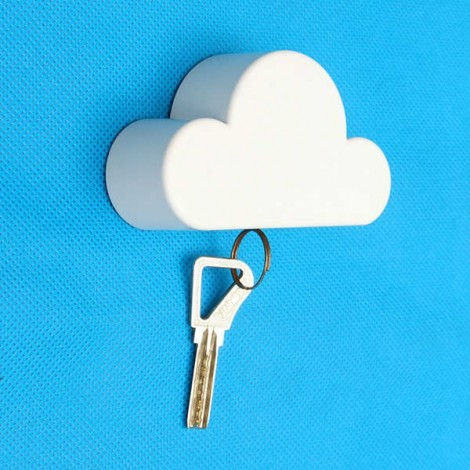 Creative Cloud-shaped Magnetic Key Holder White