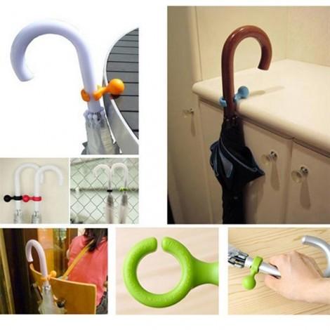 Plastic Handy Mini Umbrella Hanger Holder Stand Support Rack Mount Random Color