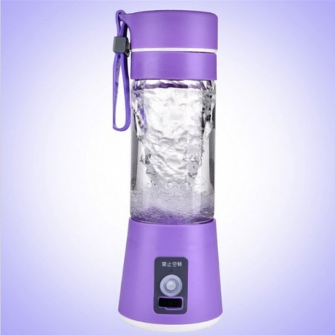400mL Multifunctional Portable Rechargeable USB Charging Electric Mini Juicer Purple