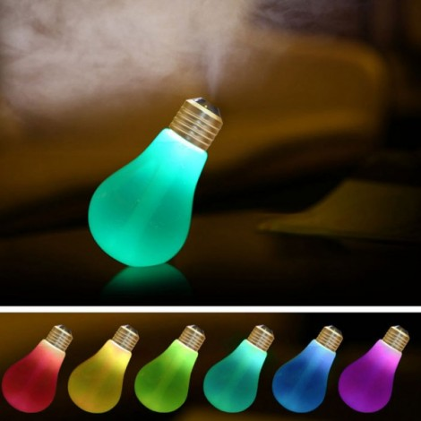 USB Colorful Matt Surface Bulb Shape Air Humidifier Diffuser Stone Decoration Beautiful Landscape