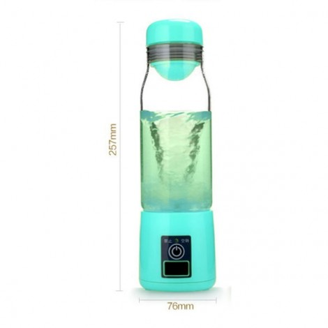3-in-1 Mini Rechargeable Electric Juicer Cup with LED Lamp Power Bank Blue