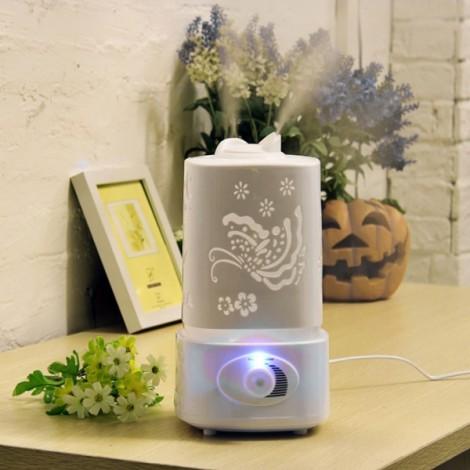 1.5L Ultrasonic Home Aroma Humidifier Air Diffuser Purifier Atomizer EU Plug White