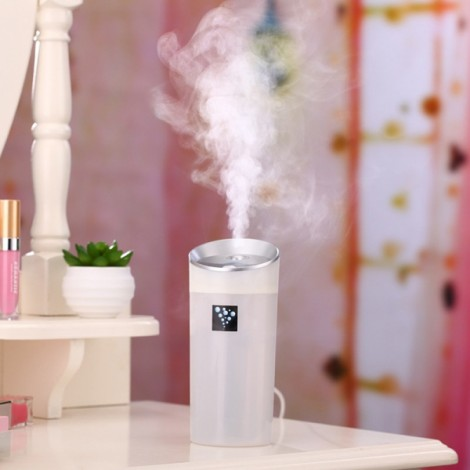 300mL Cup Shape Mini USB Air Humidifier Aromatherapy Diffuser Air Purifier Mist Maker White