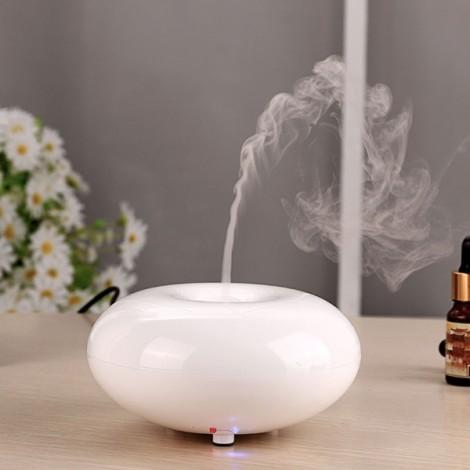 Ultrasonic Spray Mist Aromatherapy Air Humidifier Diffuser White & EU Plug (100-240V)