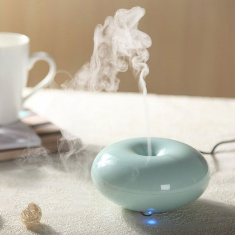 Ultrasonic Spray Mist Aromatherapy Air Humidifier Diffuser Blue & UK Plug (100-240V)