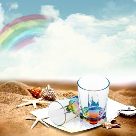 Romantic Acrylic Light Refraction Rainbow Cup Colorful & Transparent