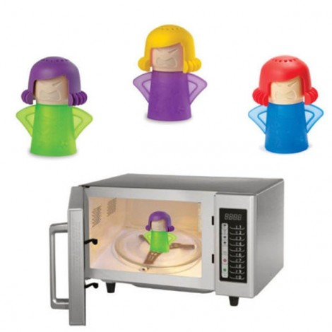 Newest Metro Angry Mama Microwave Cleaner Kitchen Gadget Tool Steam Cleaner Random Color