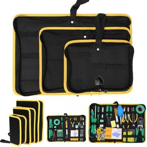 Heavy Duty Repair Tool Zip Closure Organizer Tool Storage Bag Black & Yellow M