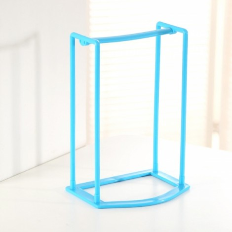 Creative Clothes Hanger Storage Rack Multifunctional Clothespin Organizer Holder Blue