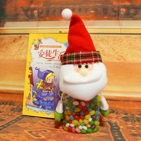 Christmas Gift Decoration Mini Candy Bottle Sugar Jar Santa Claus Pattern