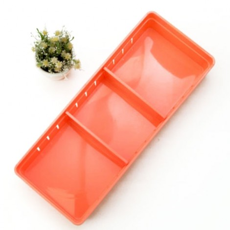 3 Grids Design Plastic Drawers Home Kitchen Jewelry Storage Box L Carminum