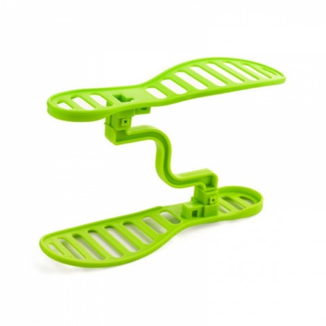 Creative Double Layers Design Space Saving Shoes Rack Shoe Storage Shelf Organizer Green