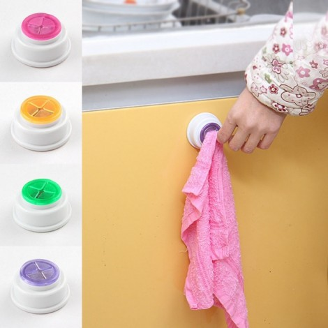Wash Cloth Clip Holder Dishclout Storage Rack Kitchen Bathroom Detachable Hand Towel Hanger Random Delivery