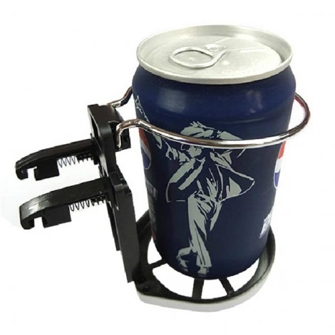 Universal Folding Drink Bottle Cup Holder Stand for Car Vehicle Black