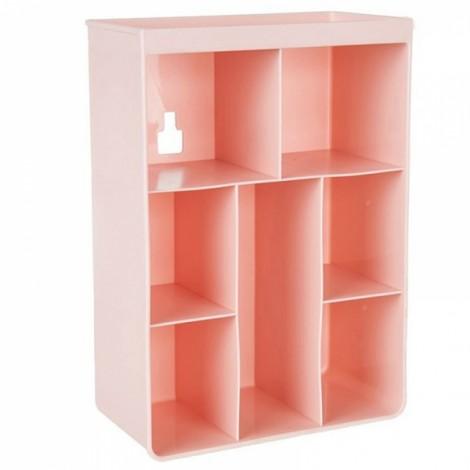 Multi-purpose Wall Mount Bathroom Storage Boxes Shampoo Cosmetic Storage Rack Kitchen Seasoning Storage Holder Pink