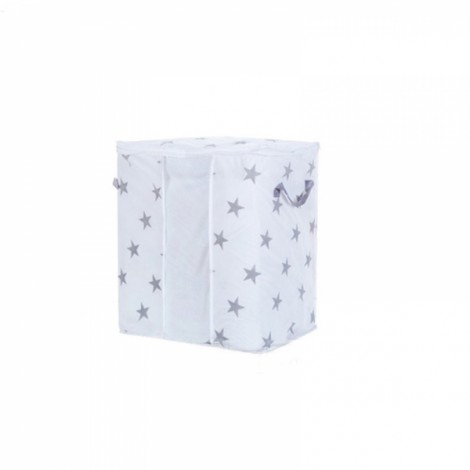 Concise Star Pattern Small Non-woven Pillow Quilt Storage Bag Portable Folding Wardrobe Clothes Storage Bag Gray