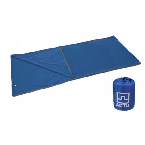 Outdoor Camping Travel Hiking Multi-functional Ultra-light Polar Fleece Sleeping Bag Blue