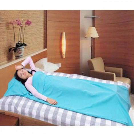 Portable Outdoor Camping Single Sleeping Bag Liner Blanket Blue