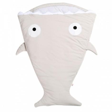 Cute Cartoon Shark Style Newborns Sleeping Bag Winter Strollers Bed Blanket Gray