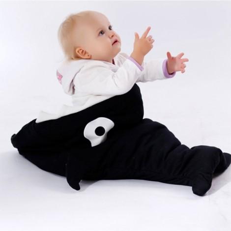 Cute Cartoon Shark Style Newborns Sleeping Bag Winter Strollers Bed Blanket Black